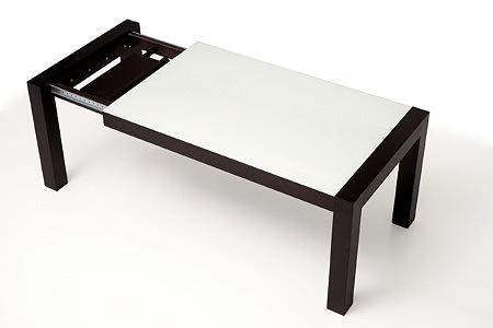 Barcelona stół rozkładany z blatem szklanym Lacobel