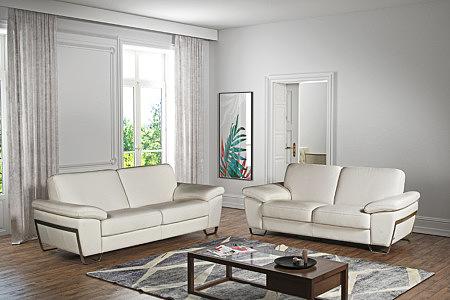 Modern2 aranżacja wnętrza eleganckiego salonu z białymi sofami
