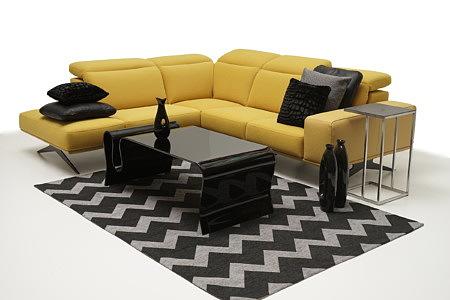 Giotto pomysł na urządzenie nowoczesnego salonu z żółtą sofą