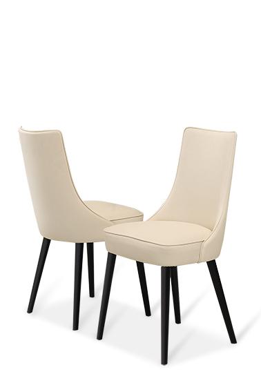 Lethendy białe nowoczesne krzesła do jadalni