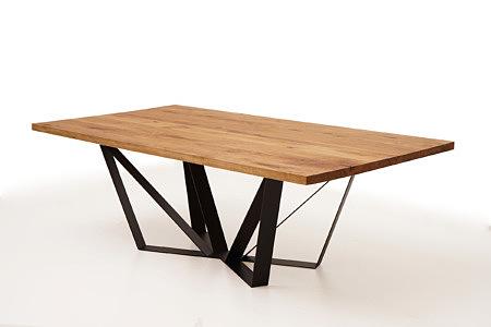 A3 stół dębowy nogi industrialne loftowe designerskie