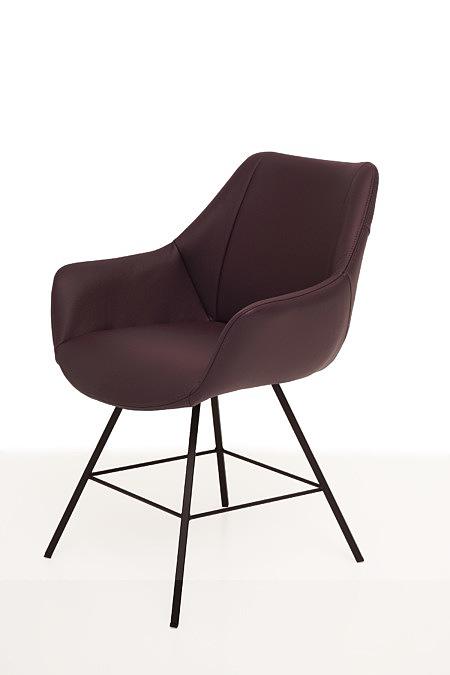 Carmen2 brązowe krzeslo kubełkowe nowoczesne