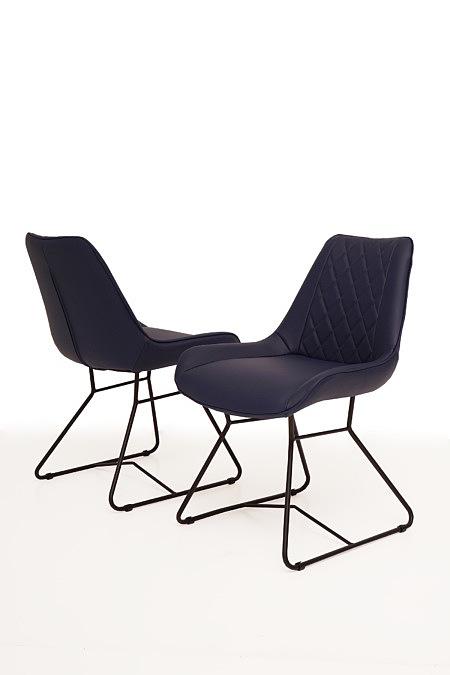 Caroline1 lekkie krzesła na metalowym stelażu z rurek