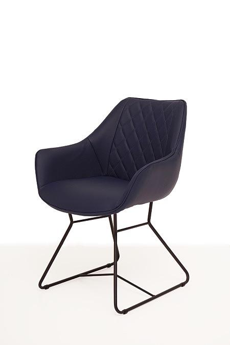 Caroline2 lekkie krzesło kubełkowe z pikowanym oparciem w rąby