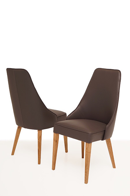 Marcelo krzesło do jadalni z wysokim oparciem nogi bukowe