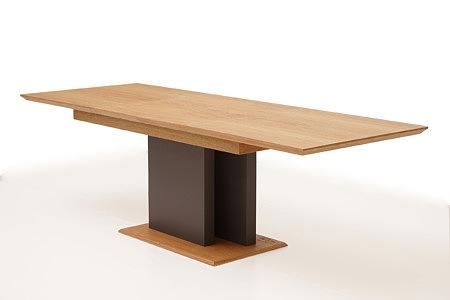 Paris designerski stół na jednej nodze lakierowanej na kolor szary