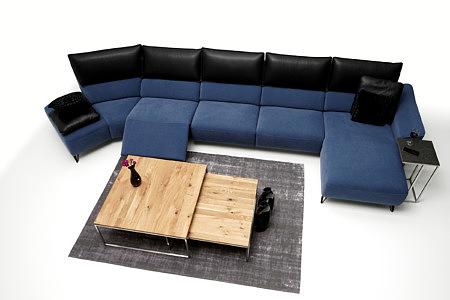 Aviva ciemno niebieski duży narożnik do nowoczesnego salonu