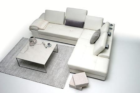 Onex aranżacja nowoczesnego salonu z białym eleganckim narożnikiem