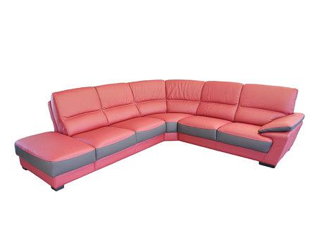 Adria czerwona sofa narożnik sofa skórzana