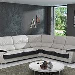 adria nowoczesna sofa do salonu biała skóra