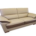adria nowoczesna sofa kolor beżowy i brązowy