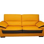 adria sofa nowoczesna pomarańczowa skóra