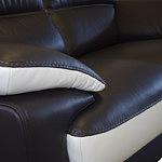 adria sofa skórzana skóra czarna i biała