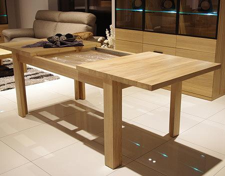 Alfa dębowy stół rozkładany z drewna litego