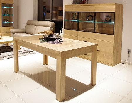 alfa stół z drewna dębowego grube drewniane nogi