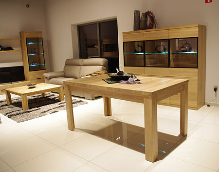 alfa stół z litego drewna dębowego