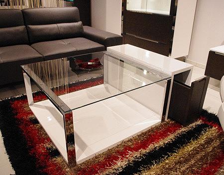 Artvision ława z metalowymi nogami i szklanym blatem