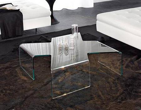 axenta nowoczesna ława w całości ze szkła białego