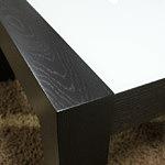 barcelona detal ławy blat biały nogi czarne