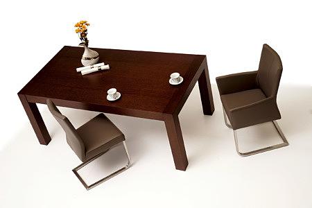 Barcelona masywny stół do jadalni krzesła metalowe nogi