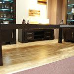 Barcelona stół rozłożony drewniane nogi