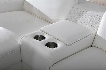 barek biała sofa uchwyty na napoje