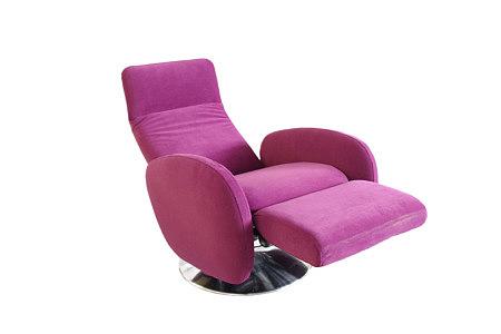 capri fioletowy fotel oparcie na nogi
