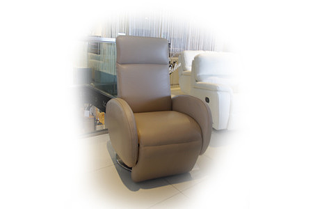 Capri skórzany fotel brązowy elektrycznie rozkładany