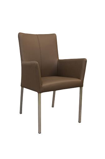 Carla 2 krzesło na nogach metalowych kwadratowych