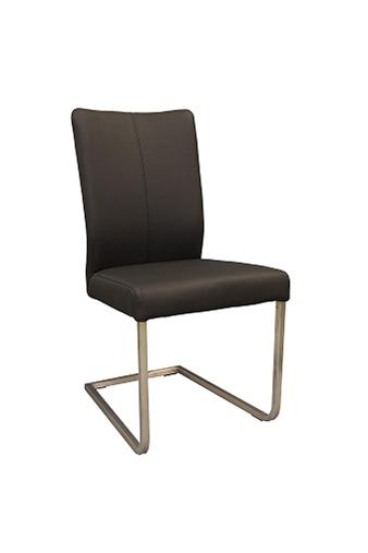 Carla 3 schraeg metalowe krzesło skórzane na płozach