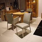 carla1 krzesło podstawa metalowa skórzane
