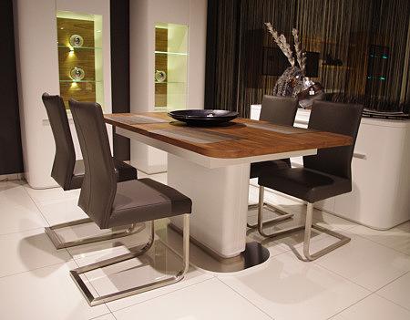 carla3 krzesło skórzane na metalowych płozach