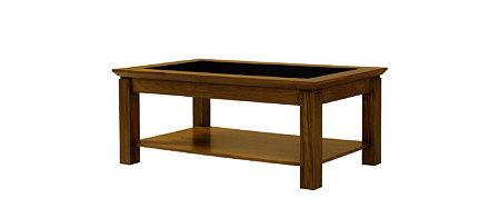 Casetti ława drewniana do salonu wymienny blat