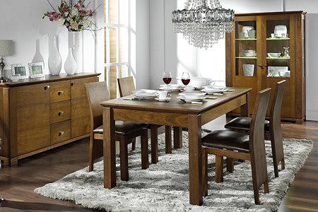 casetti stół w kolorze orzech amerykański styl klasyczny