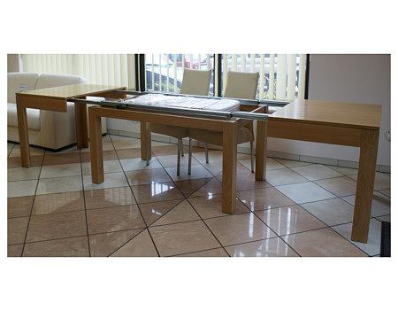 cezar duży stół rozkładany buk