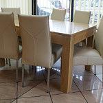 cezar stół okleina dębowa grube nogi