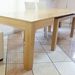 cezar stół w okleinie bukowej z elementami litego drewna