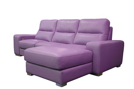 comfort komplet wypoczynkowy skóra kolor fioletowy
