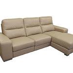 Comfort kreamowa sofa narożnik skórzany