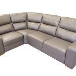 comfort sofa narożnik szara skóra