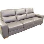 Comfort sofa skórzana szara skóra
