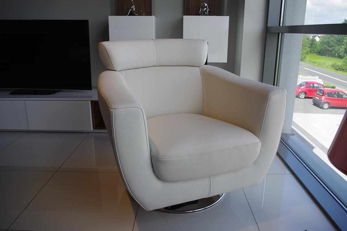 Como fotel skórzany z zagłówkiem kubełkowy