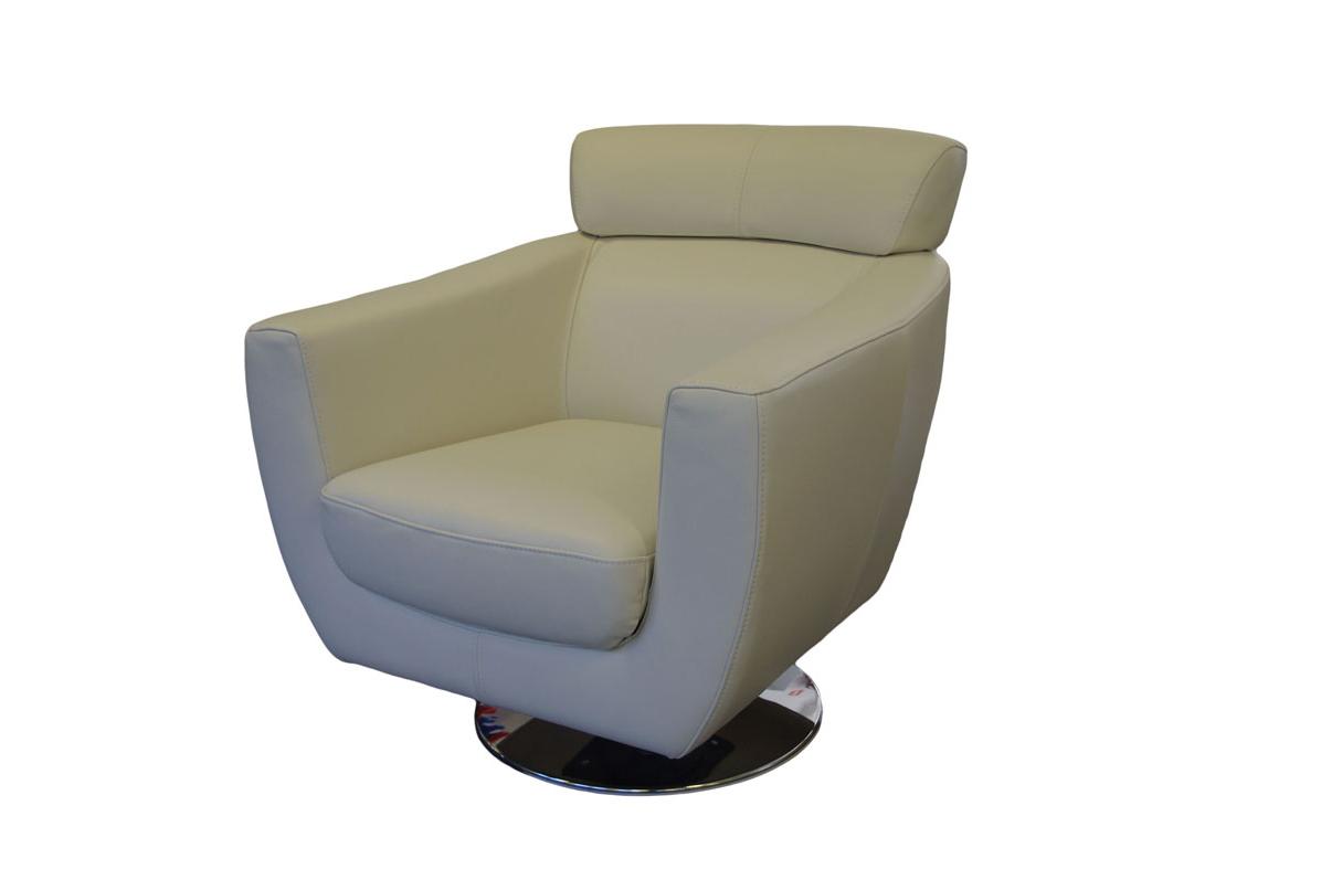 Como nowoczesny fotel skórzany kubełkowy