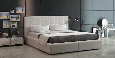 corida nowoczesne łóżko do sypialni z zagłówkiem