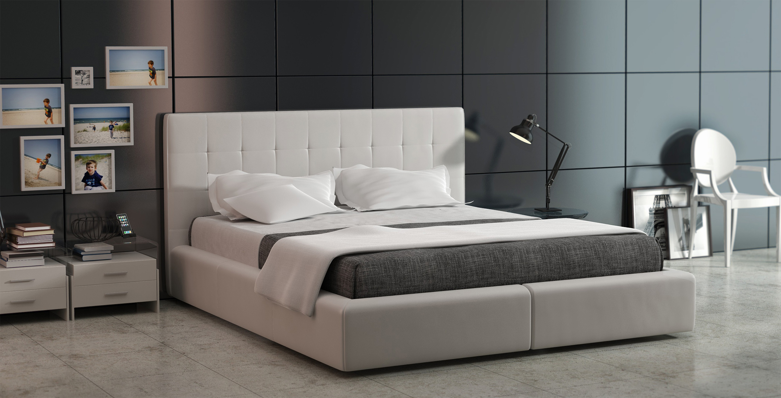 Corida Nowoczesne łóżko Do Sypialni Z Zagłówkiem Tc Meble
