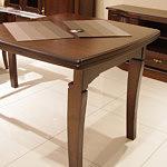 Diament xl stół rozkładany z elementami z drewna