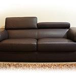 dion sofa czarna skórzana z zagłówkami