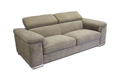 dion sofa dwuosobowa obicie materiałowe szara