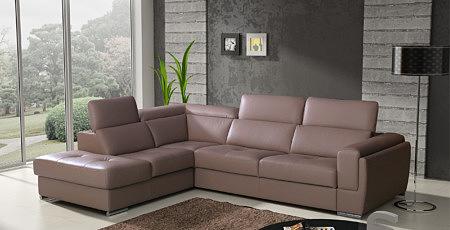 diva sofa narożnik skórzany koloro brązowy zagłówki
