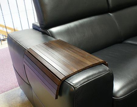 Drewniana nakładka na bok sofy